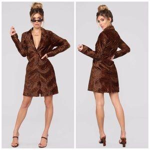 Fashion Nova Leopard Trench Coat